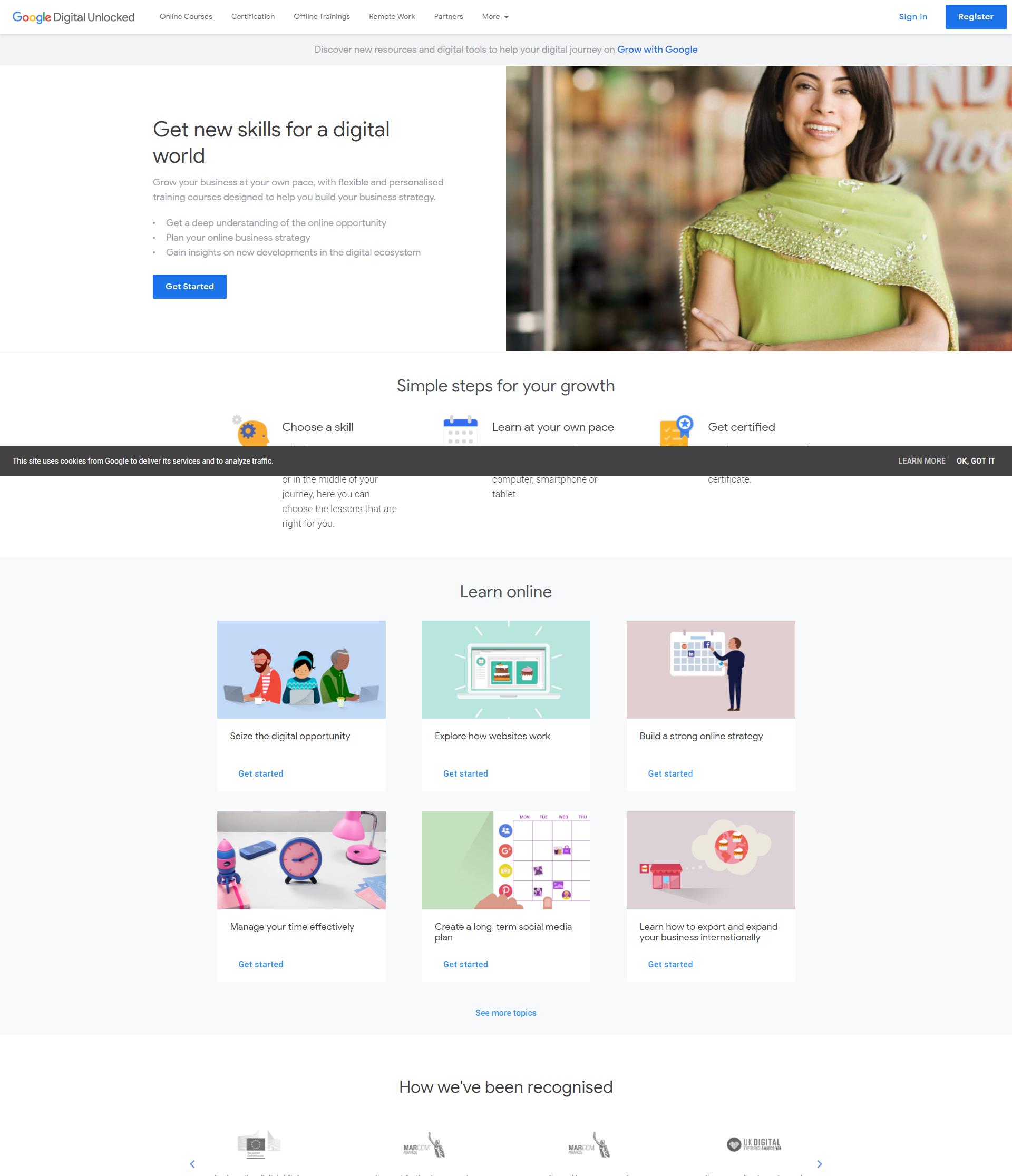 example of digital marketing landing page